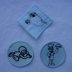 Badges lichtblauw